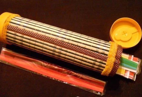 Как сделать футляр для рукоделия из бамбуковой салфетки-1-jpg.7751
